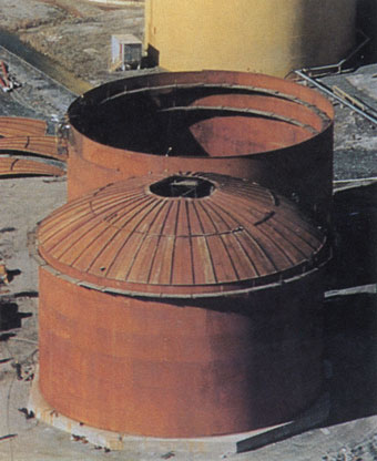 API 650 Acid Tanks with Self Supported Stiffened Umbrella Roofs