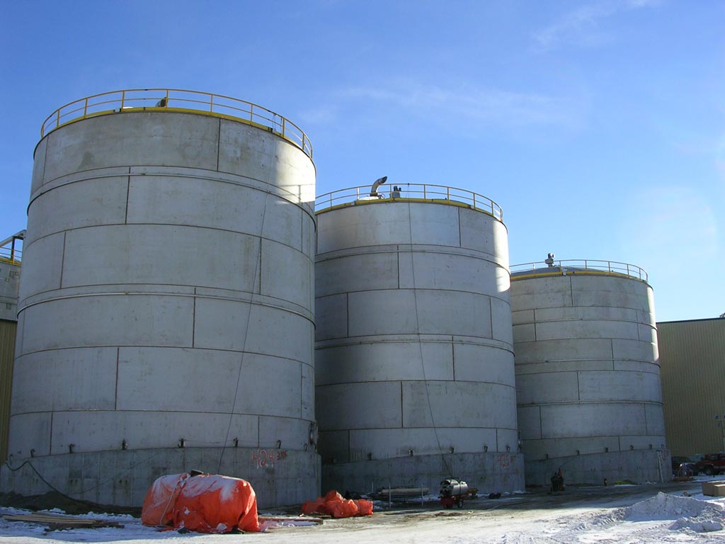 48.5' x 52' High, API 650 Stainless Ethanol Fermenter Tanks