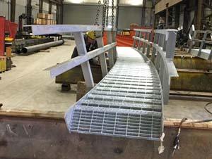 Galvanized Tank Stairwell