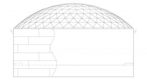 Geodesic Dome Roof IFR Carbon Steel