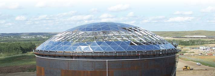 Geodesic Dome Roof Tank