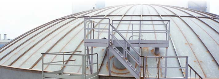 Self Supporting Stiffened Umbrella Roof Tank