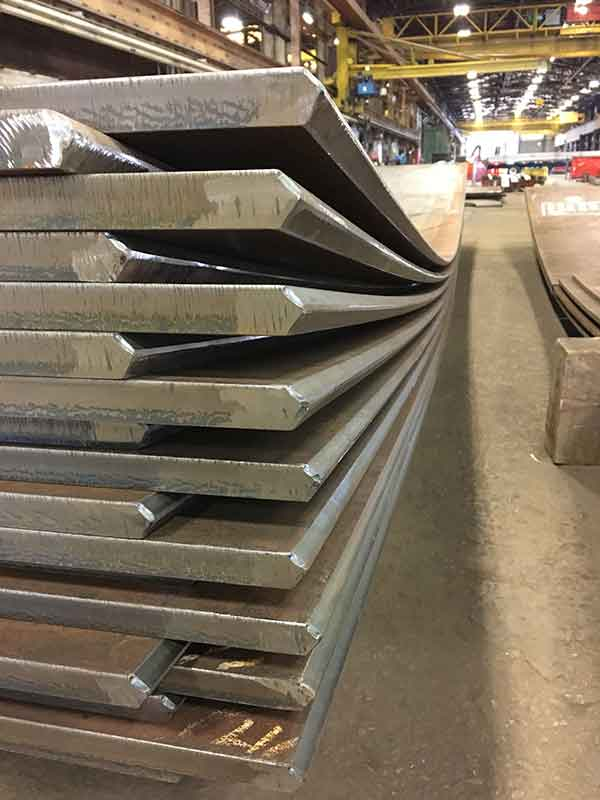 Quality Control and Quality Assurance to the Highest Standards in Plate Fabrication of Beveled, Rolled, Stainless Platework