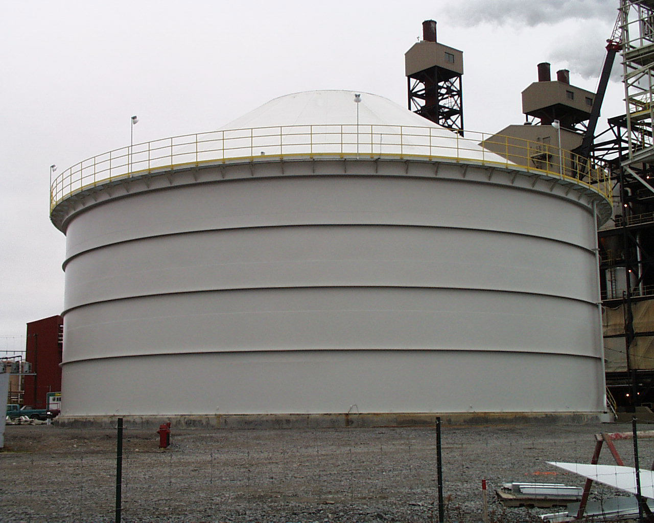 112' x 40' High, Coated Alumina Silo