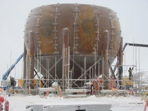 48' ASME Sphere for Butane Storage at a Canadian Refinery