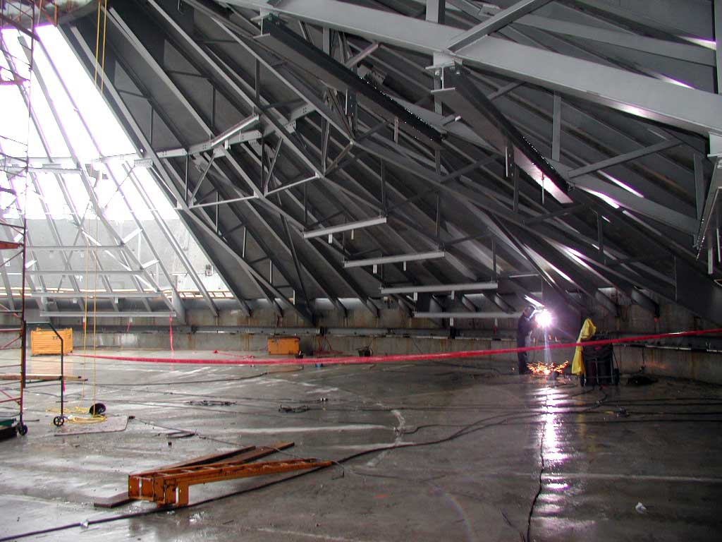 Interior View of Structurally Supported Cone Roof Silo