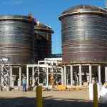 46' Dia x 49' High, API 620, Cone Bottom, Dome Roof Fermenters for an Ethanol Plant
