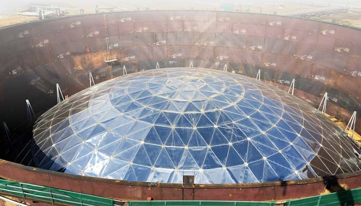 API 650 Tank Geodesic Dome Roof