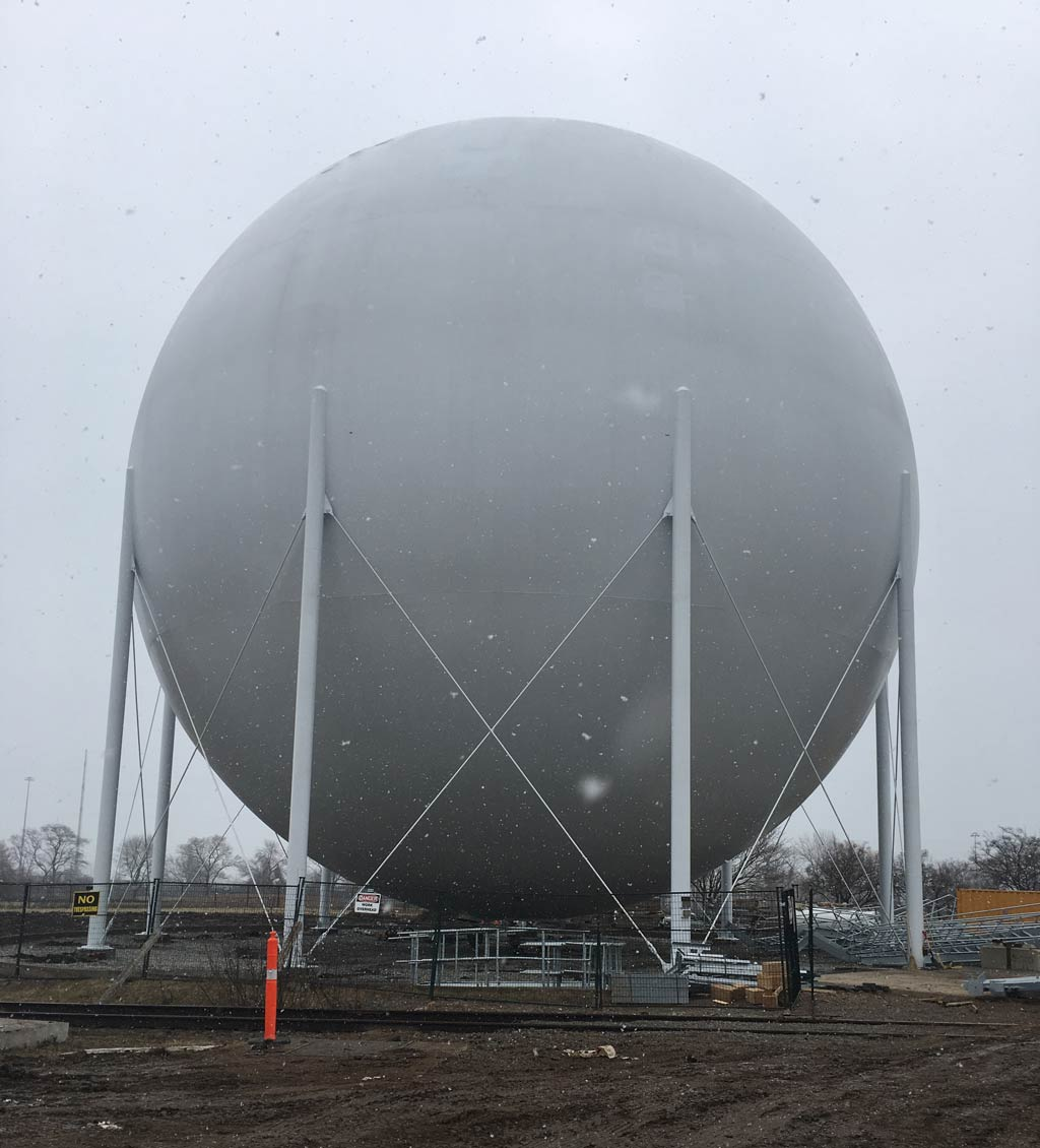 Sphere Liquid Methane Gas Storage, ASME Design