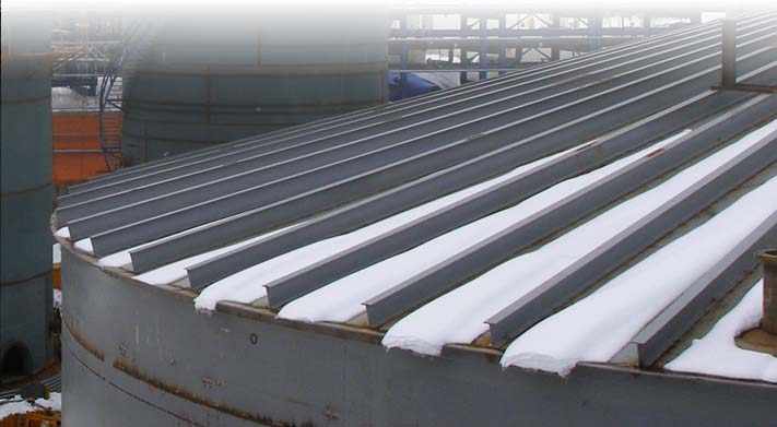 Self Supporting Stiffened Cone Roof Tank