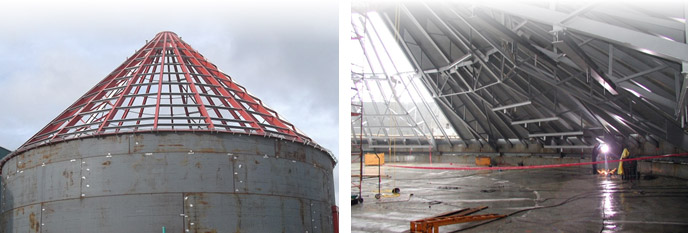 Structurally Supported Cone Roof
