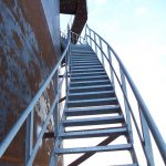 Galvanized Double Stringer Stairwell Access System