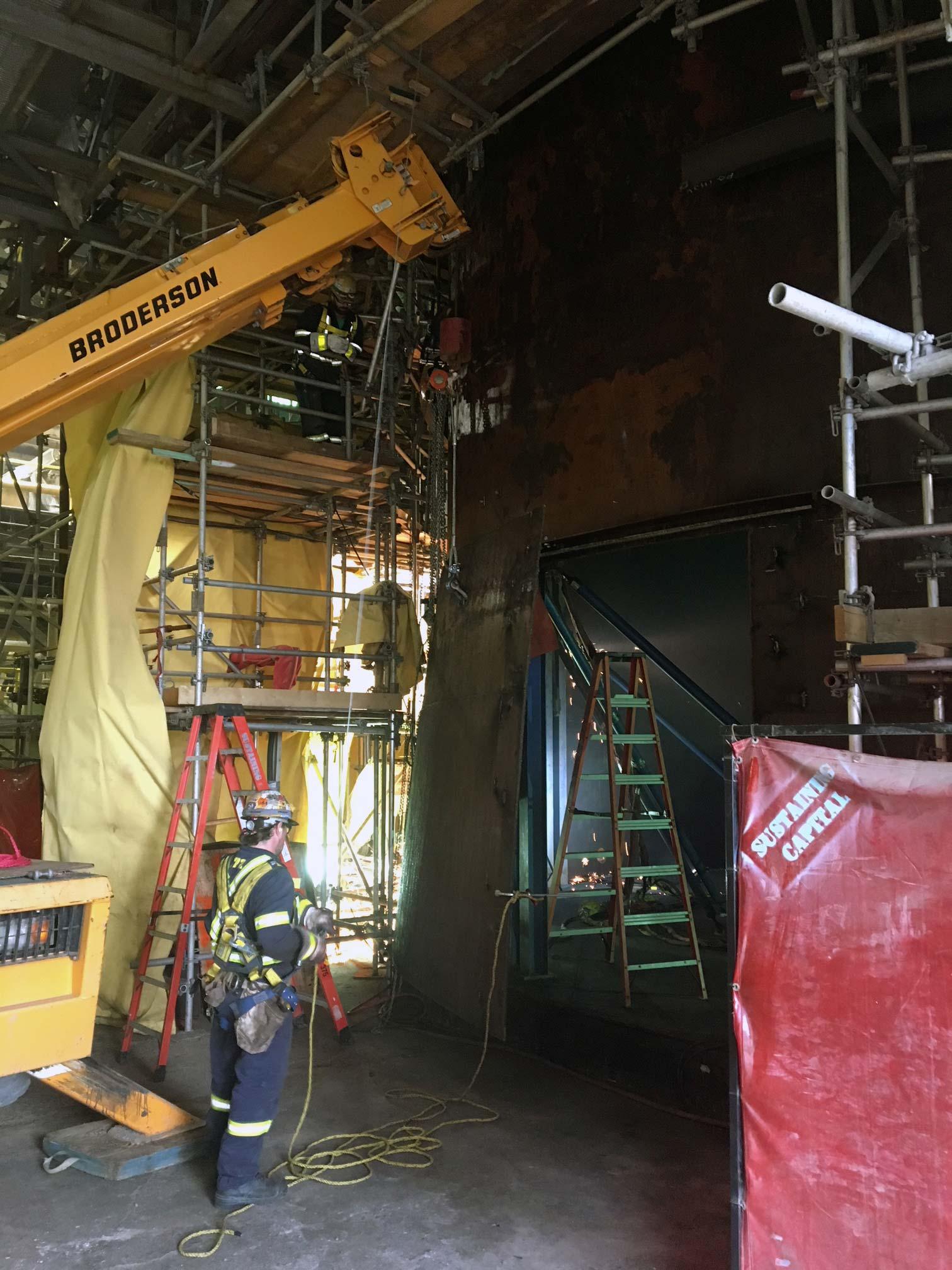 Steel Tank Demolition : Maintenance repairs tiw steel platework inc