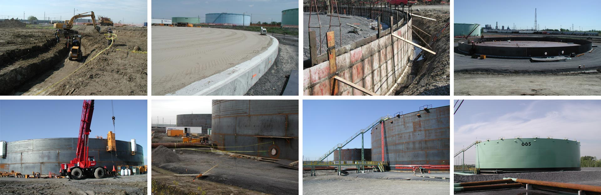 Turnkey Project for Three 220' x 56' High API Tanks
