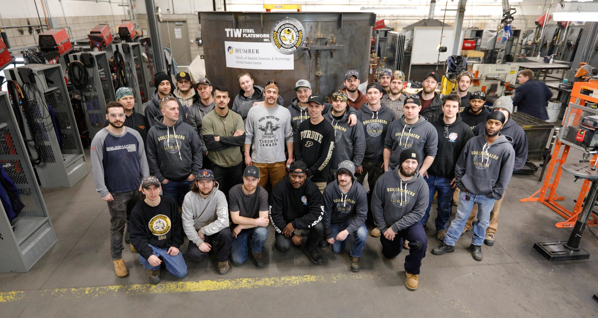 humber-college-january-2020-advanced-boilermaker-class-group-shot-tiw-steel-platework-donated-tank-1