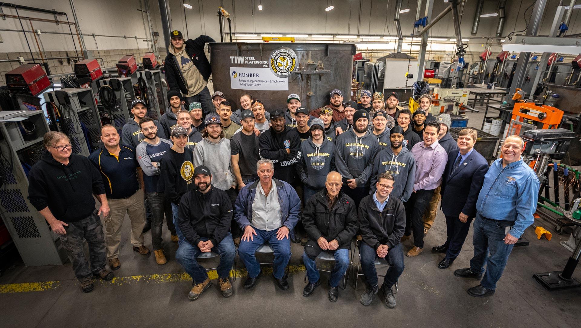 humber-college-tiw-steel-platework-boilermaker-tank-donation-group-shot-1